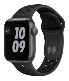 Apple Watch Nike SE GPS + Cellular, 40mm Space Gray Aluminium Case with Anthracite/Black Nike Sport