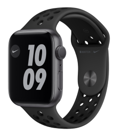 Apple Watch Nike Series 6 GPS + Cellular, 44mm Space Grey Aluminium Case with Anthracite/Black Nike