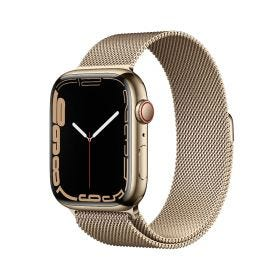 Apple Watch Series 7 GPS + Cellular, 45mm Gold Stainless Steel Case with Gold Milanese Loop