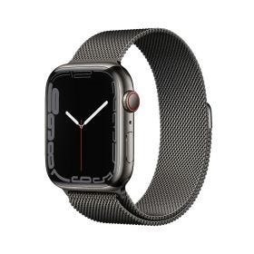 Apple Watch Series 7 GPS + Cellular, 45mm Graphite Stainless Steel Case with Graphite Milanese Loop