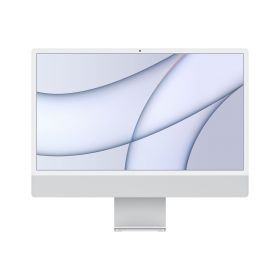 iMac 24-inch with Retina 4.5K display: Apple M1 chip with 8core CPU and 8core GPU, 256GB - Silver