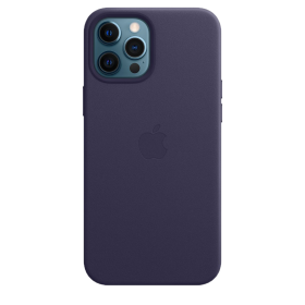 iPhone 12 Pro Max Leather Case with MagSafe - Deep Violet