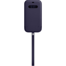 iPhone 12 Pro Max Leather Sleeve with MagSafe - Deep Violet