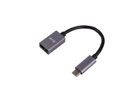 LMP USB-C (m) to USB A (f) adapter, 5G/3A, 15 cm, aluminum housing, space gray