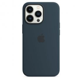 iPhone 13 Pro Max Silicone Case with MagSafe  Abyss Blue