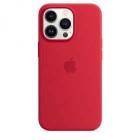 iPhone 13 Pro Silicone Case with MagSafe  (PRODUCT)RED
