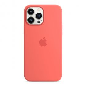 iPhone 13 Pro Max Silicone Case with MagSafe  Pink Pomelo