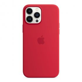 iPhone 13 Pro Max Silicone Case with MagSafe  (PRODUCT)RED